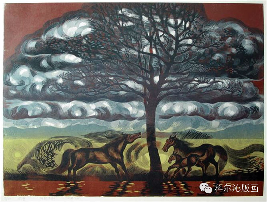 著名版画家山丹作品欣赏 第3张