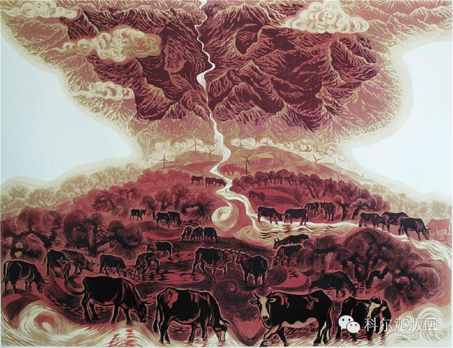 著名版画家山丹作品欣赏 第12张