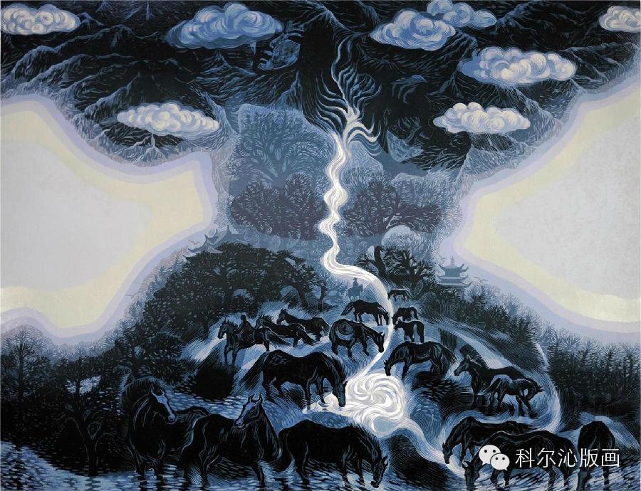 著名版画家山丹作品欣赏 第9张