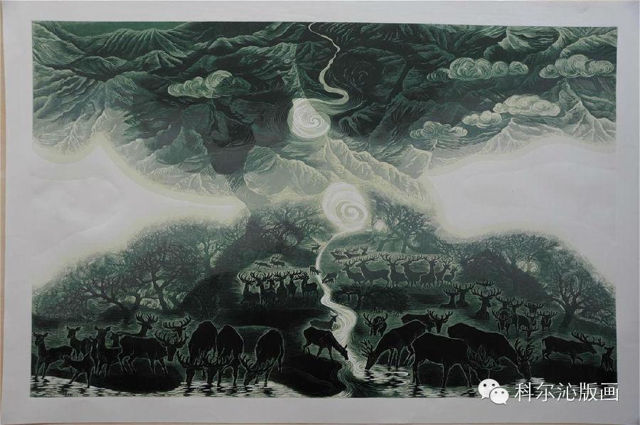 著名版画家山丹作品欣赏 第10张