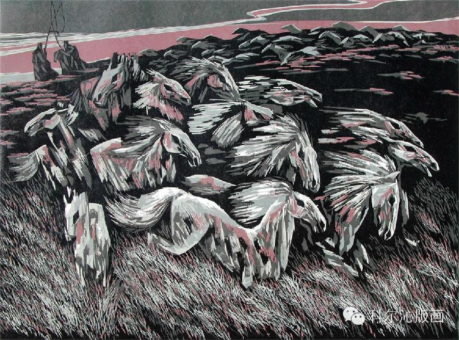 著名版画家乌恩琪作品欣赏 第2张
