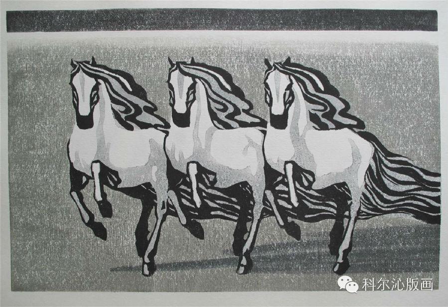 著名版画家乌恩琪作品欣赏 第21张