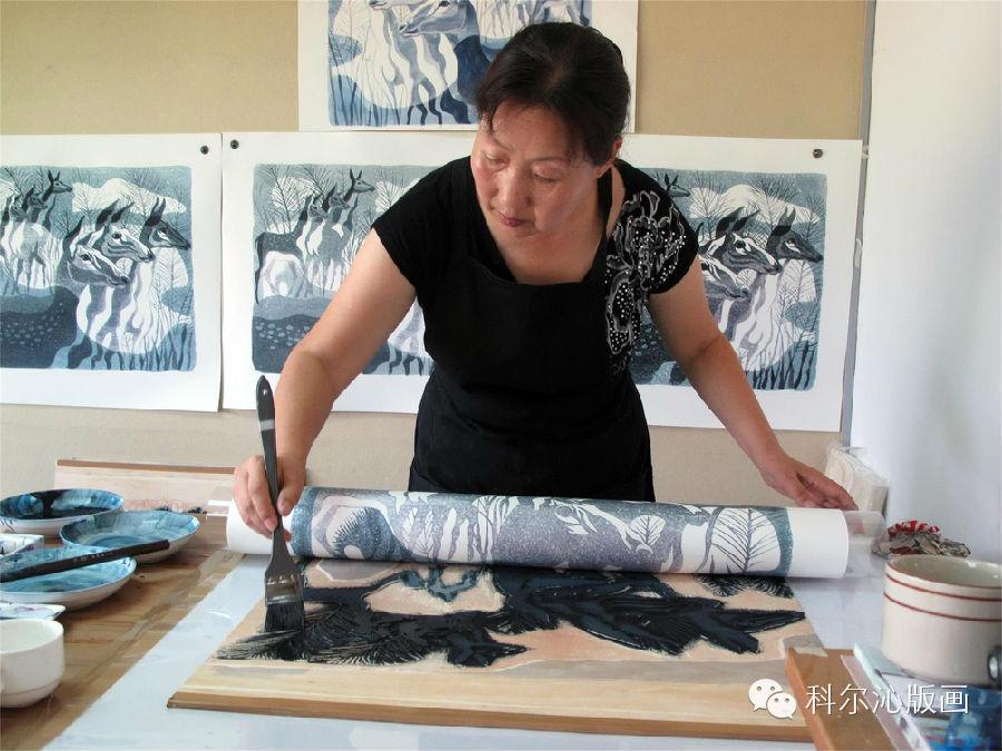 著名版画家山丹作品欣赏(二) 第1张