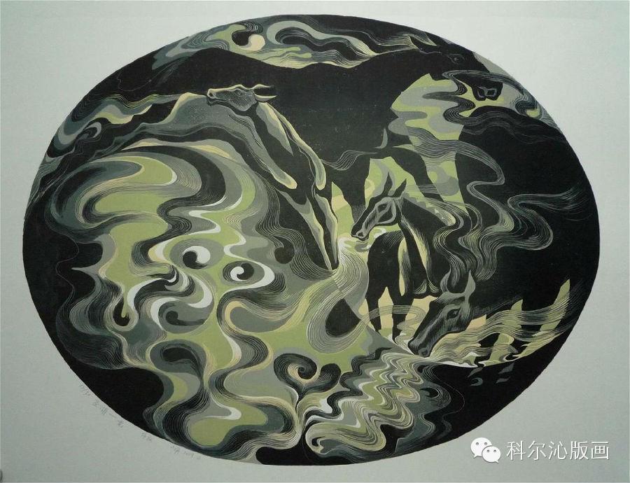 著名版画家山丹作品欣赏(二) 第7张