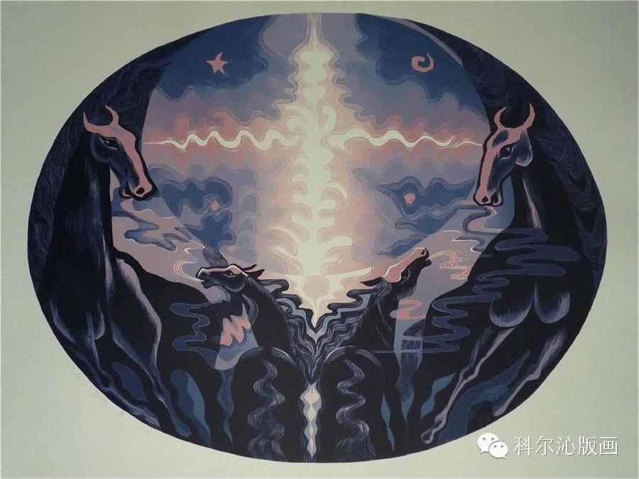 著名版画家山丹作品欣赏(二) 第6张