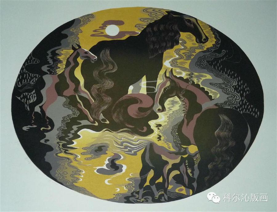 著名版画家山丹作品欣赏(二) 第9张