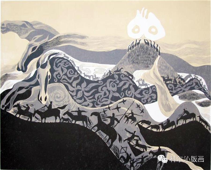 著名版画家山丹作品欣赏(二) 第12张