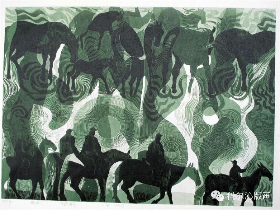 著名版画家山丹作品欣赏(二) 第13张