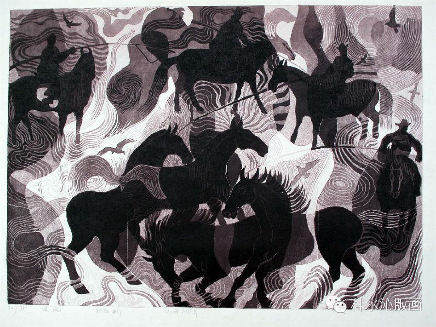 著名版画家山丹作品欣赏(二) 第15张