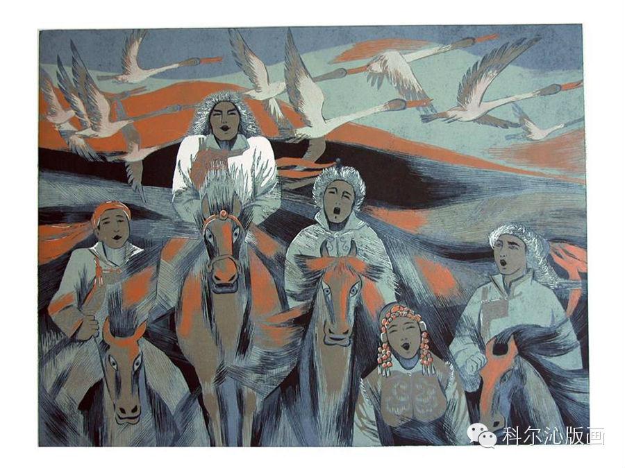 著名版画家山丹作品欣赏(二) 第17张