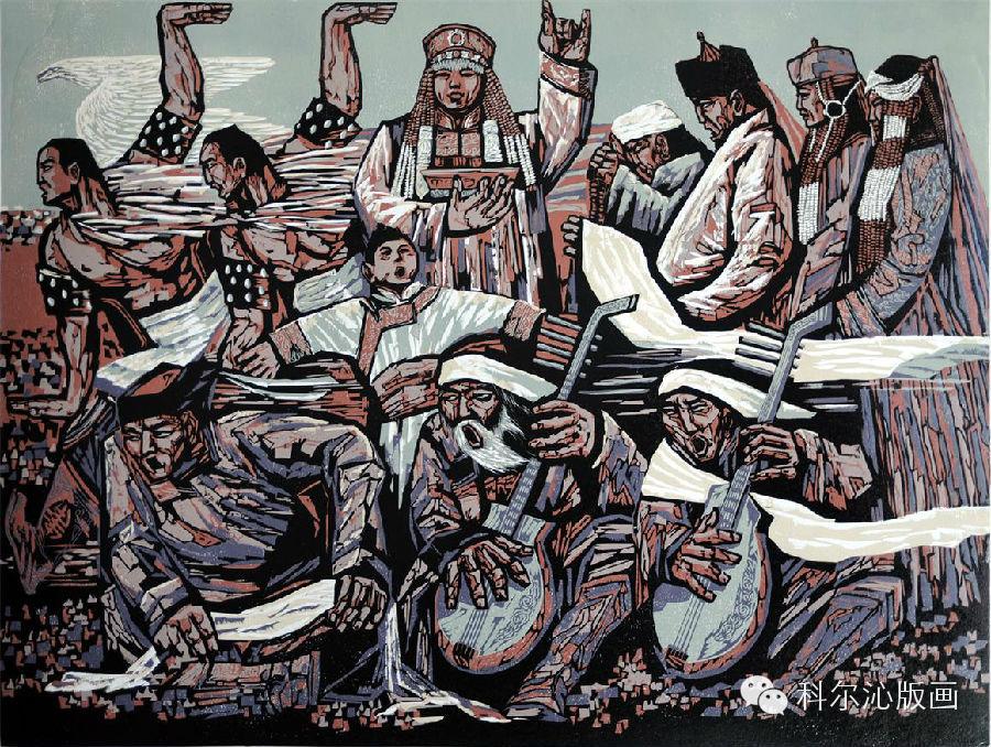 著名版画家乌恩琪作品欣赏(二) 第3张
