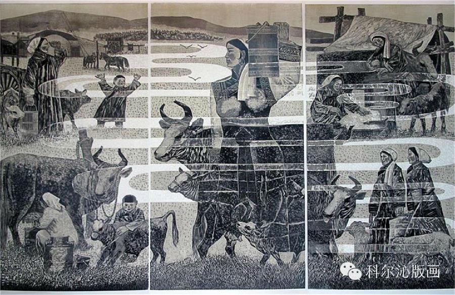 著名版画家乌恩琪作品欣赏(二) 第8张