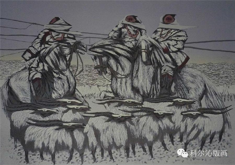 著名版画家乌恩琪作品欣赏(二) 第15张