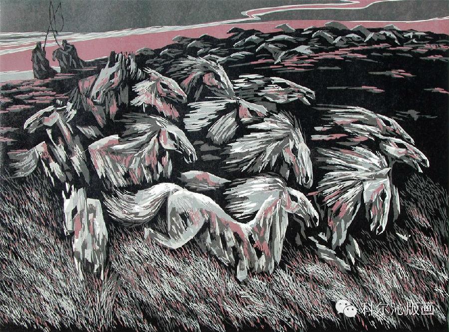 著名版画家乌恩琪作品欣赏(二) 第16张