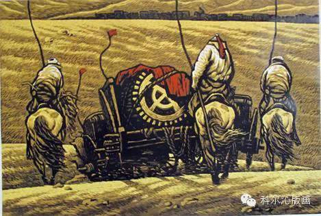 科尔沁版画家系列之一  ———— 田宏图 第3张