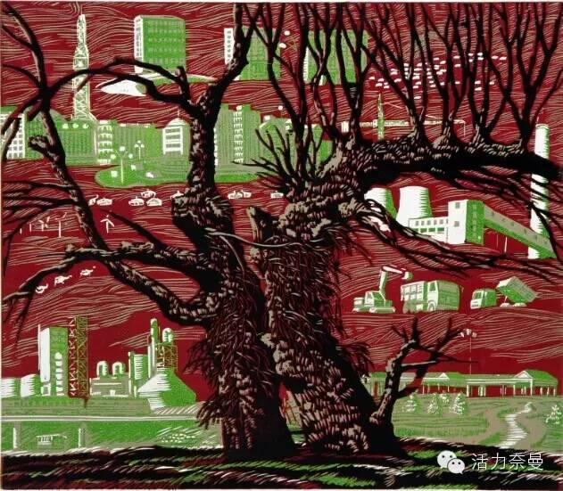 版画艺术丨奈曼版画基地的部分版画创作者简介及部分作品欣赏,让你大开眼界! 第22张