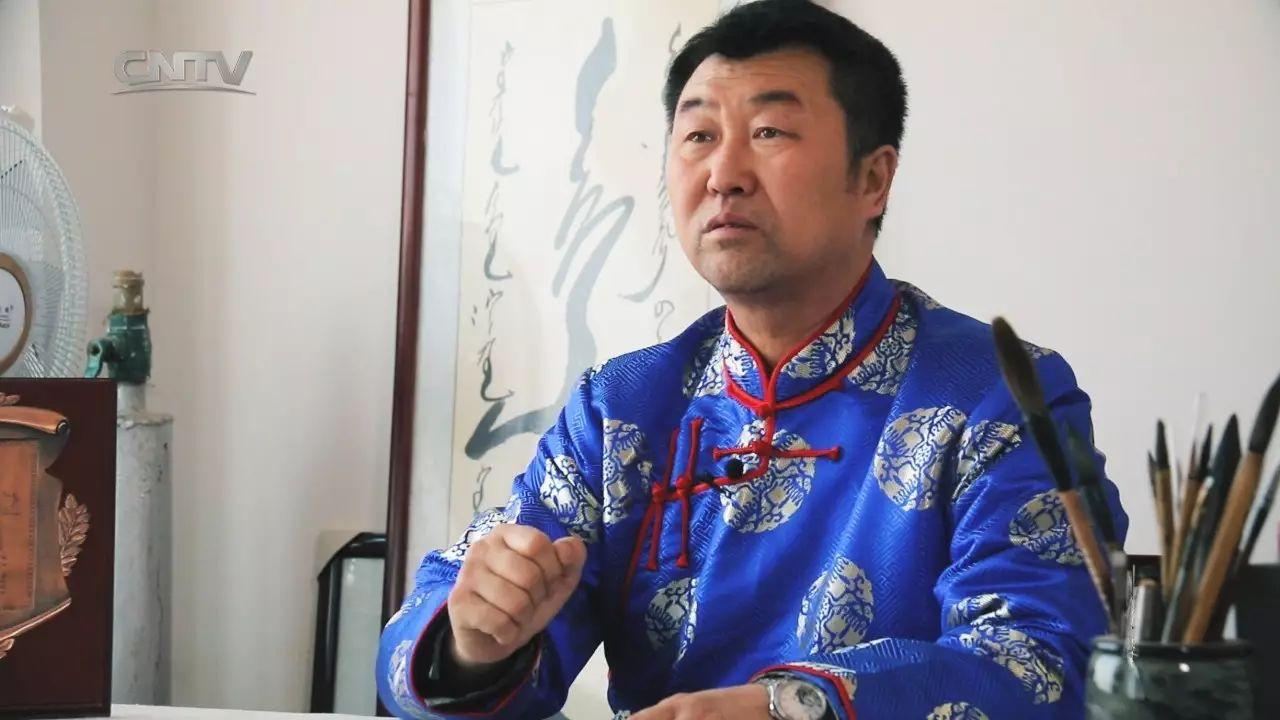 蒙古文书法家第二季(5)——教师书法家阿拉坦苏那嘎 第4张