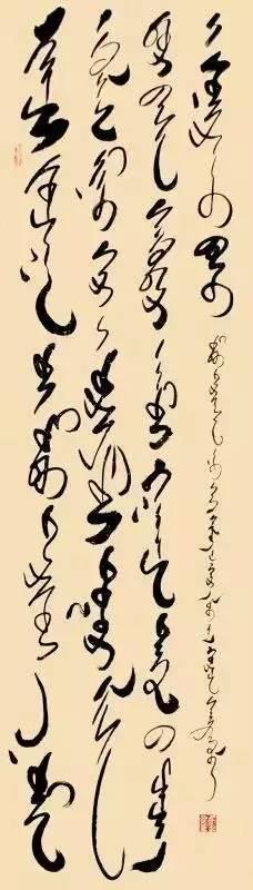 蒙古文书法家--年轻小伙子胡日查的作品 第5张