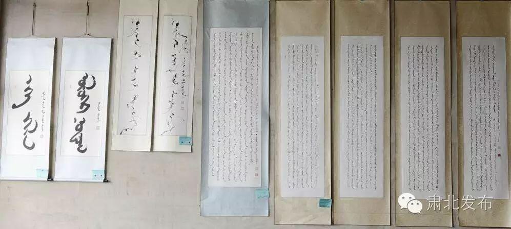 蒙古文书法家信百川现场挥毫,难得一见 第10张