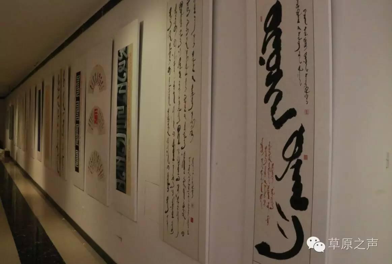 青年书法家乌恩《故乡情》蒙古文书法展在呼和浩特开展 第19张