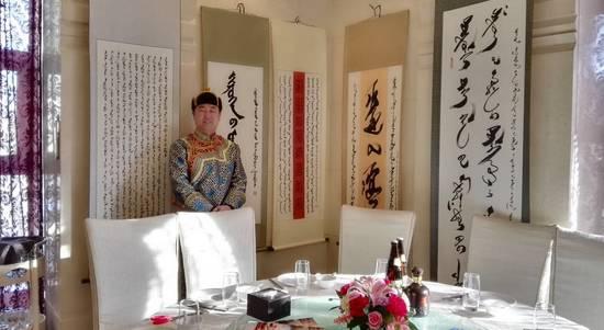 致力于传播、传承蒙古文书法艺术的内蒙古自治区通辽市科尔沁左翼后旗蒙古文书法家协会 第5张