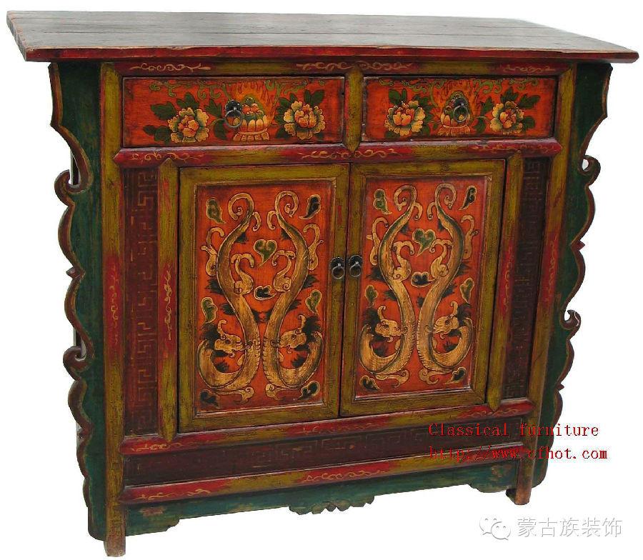 蒙古族家具装饰图案中的藏传佛教因素 第2张