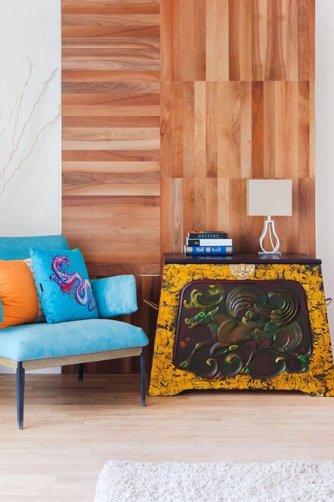 蒙古国设计的蒙古包家具和用品,太漂亮了~ 第3张