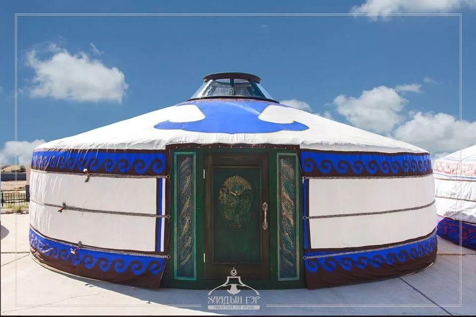 蒙古国设计的蒙古包家具和用品,太漂亮了~ 第5张