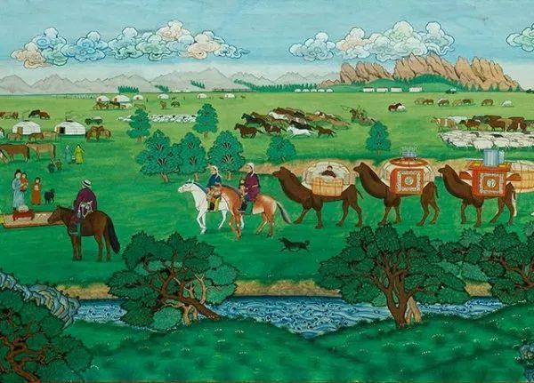 蒙古人都应该了解和知道的名画~~~ 第12张