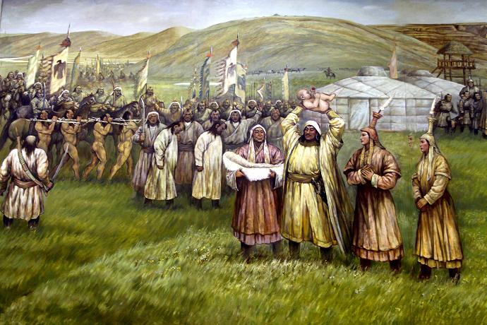 蒙古历史长卷系列油画 第2张