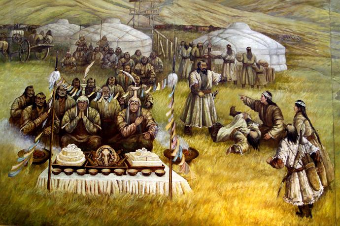 蒙古历史长卷系列油画 第4张