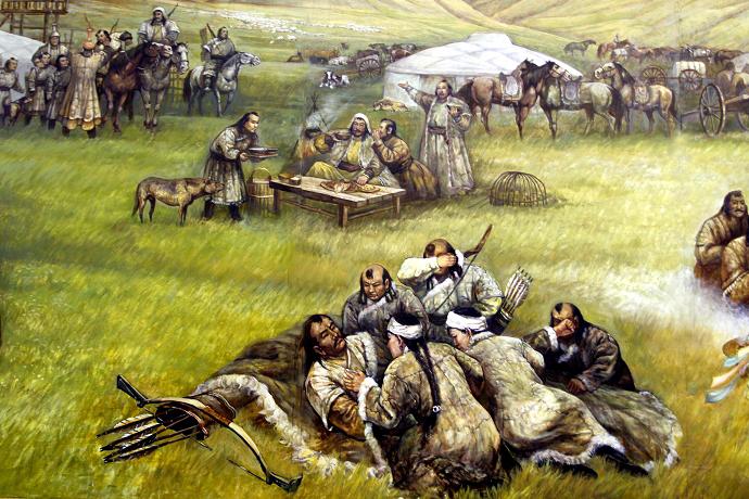蒙古历史长卷系列油画 第3张