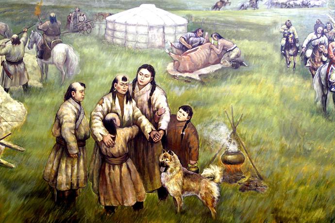 蒙古历史长卷系列油画 第7张