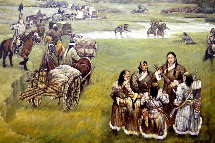 蒙古历史长卷系列油画 第5张