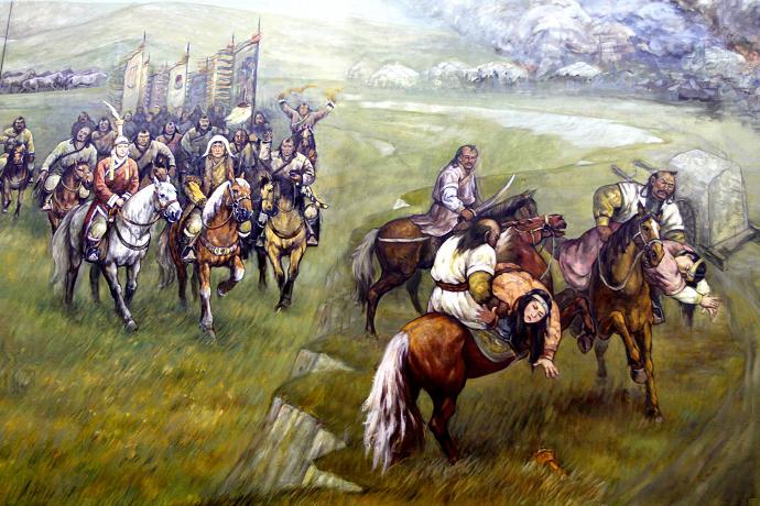 蒙古历史长卷系列油画 第8张