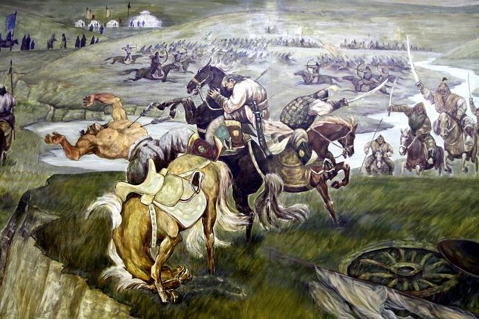 蒙古历史长卷系列油画 第12张