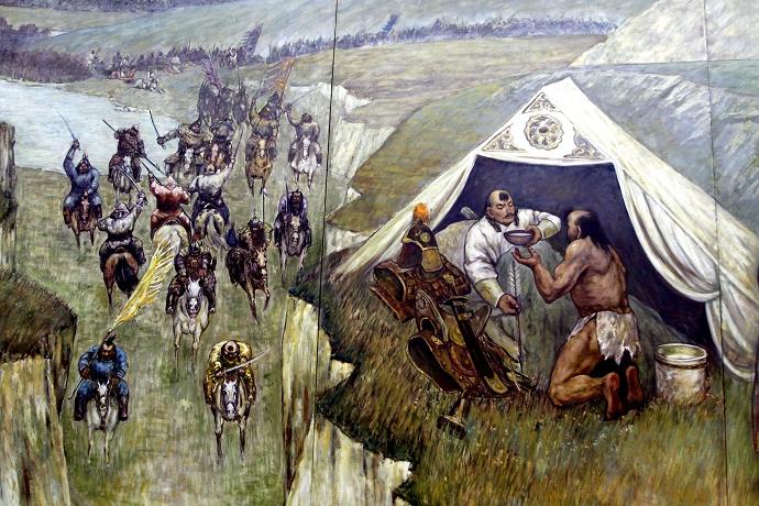 蒙古历史长卷系列油画 第14张