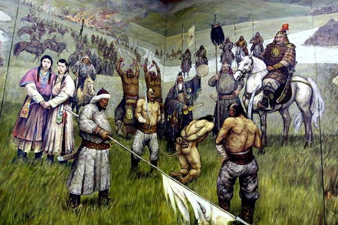 蒙古历史长卷系列油画 第13张