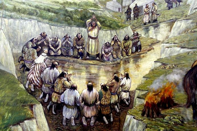 蒙古历史长卷系列油画 第15张
