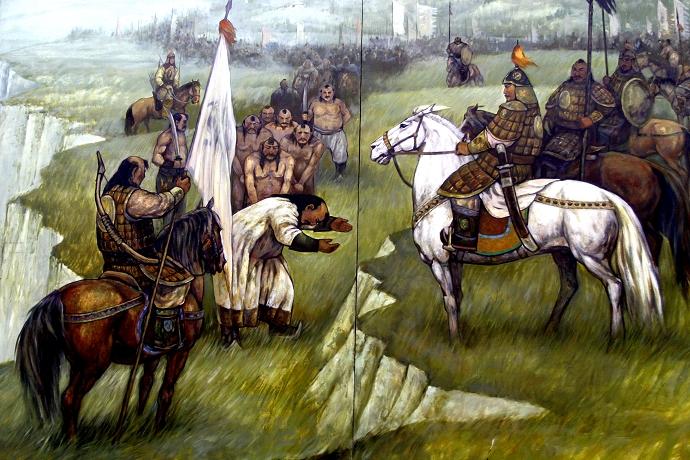 蒙古历史长卷系列油画 第18张