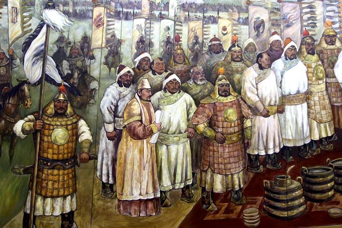 蒙古历史长卷系列油画 第20张