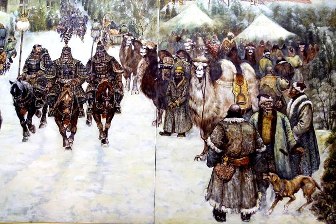 蒙古历史长卷系列油画 第29张
