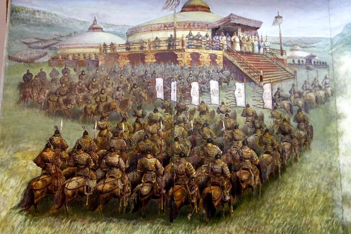 蒙古历史长卷系列油画 第28张