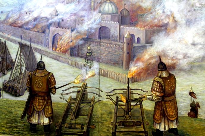 蒙古历史长卷系列油画 第31张