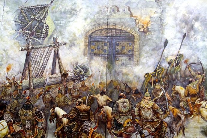 蒙古历史长卷系列油画 第38张