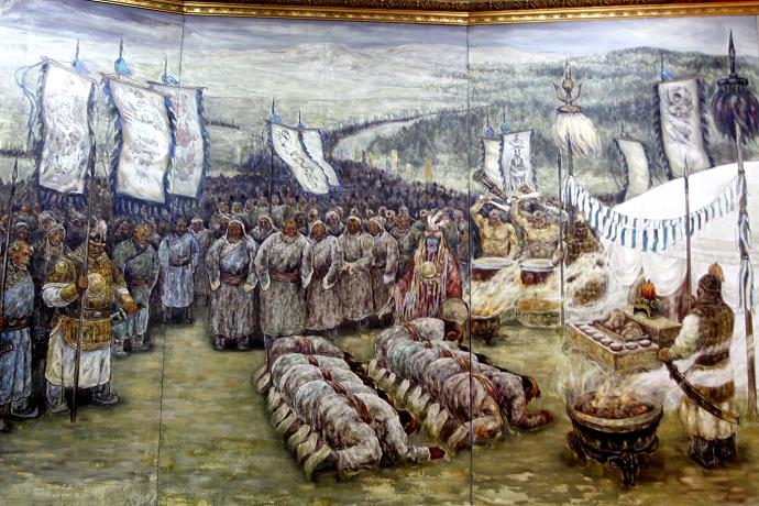 蒙古历史长卷系列油画 第37张