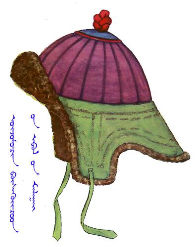 【蒙古服饰】传统帽子图案_蒙古图案_蒙古元素