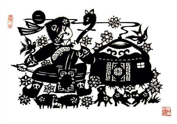 【蒙古族剪纸艺术】 第4张