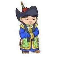 超可爱蒙古风卡通人物  第1张