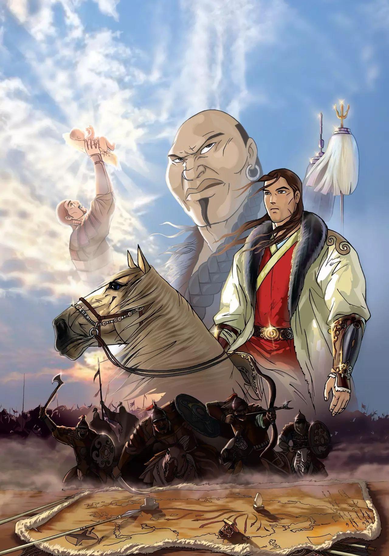 画《成吉思汗》的蒙古国卡通绘本漫画家 第1张